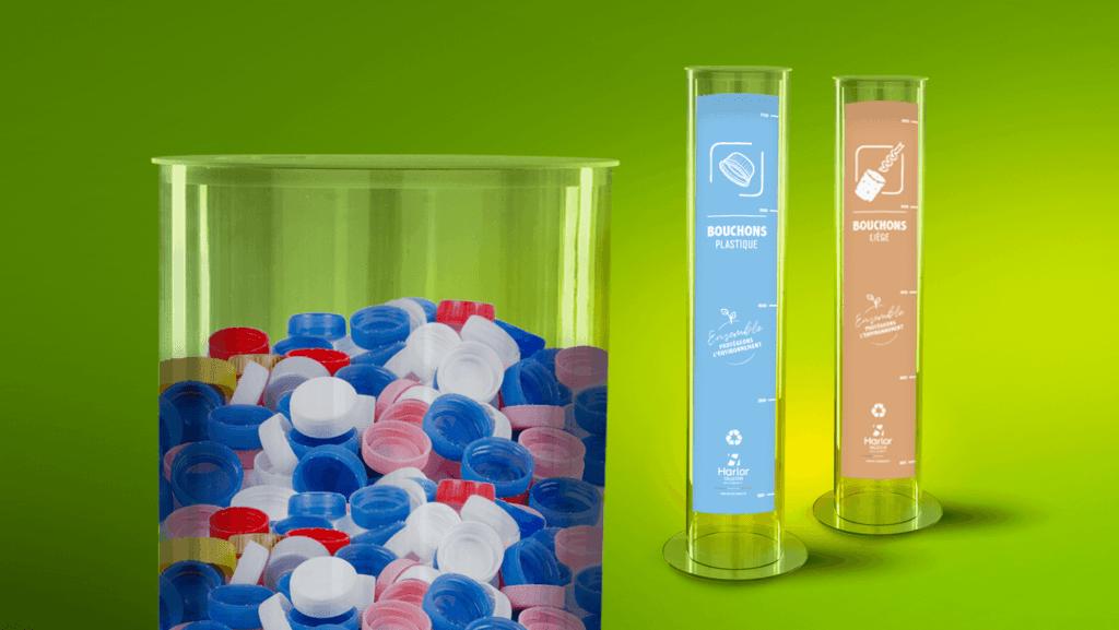 De nouveaux collecteurs plus spécifiques pour bouchons plastique