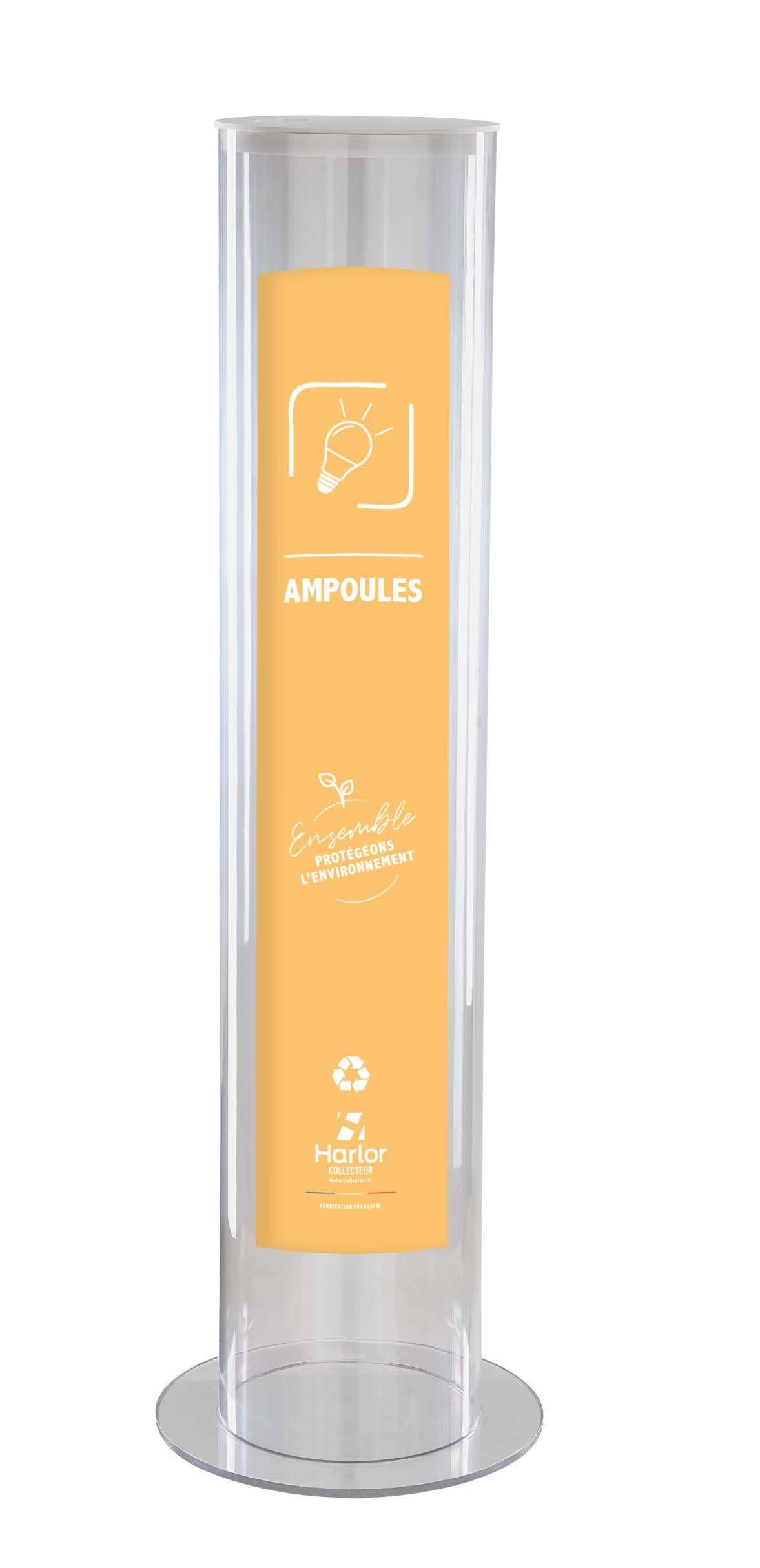 Harlor Collecteur - Collecteur d'ampoules usagées 30L
