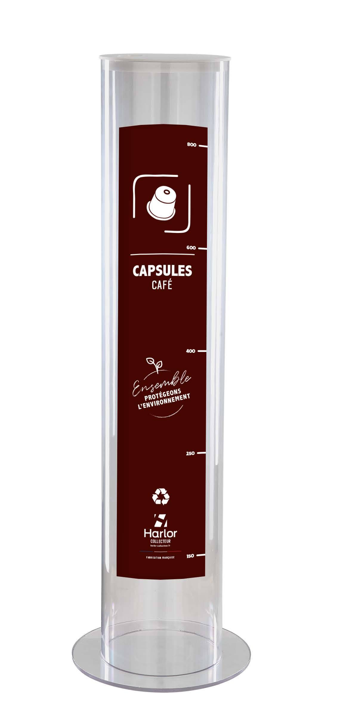 Harlor Collecteur - Collecteur de capsules de café usagées 30L