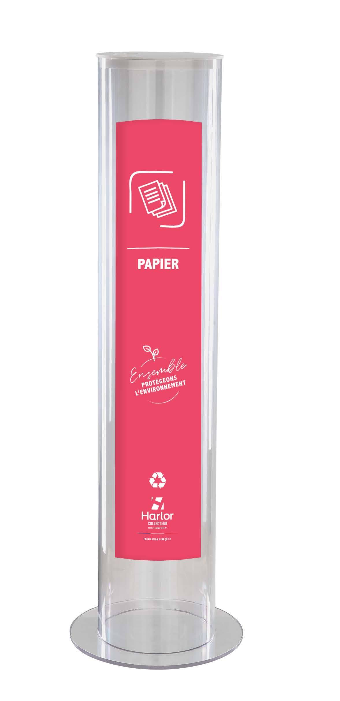 Harlor Collecteur - Collecteur Papier grand modèle 30L
